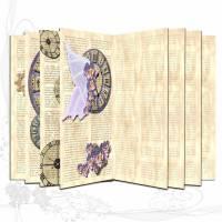 DIY Grafik-Set Digitales Papier, Motiv *Romantisch 001* für Innenseiten (Signaturen) für Junk-Journals Bild 1