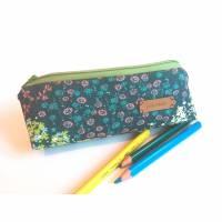Federtasche | Mäppchen | Federmäppchen | Stiftemäppchen | Blumen Bild 1