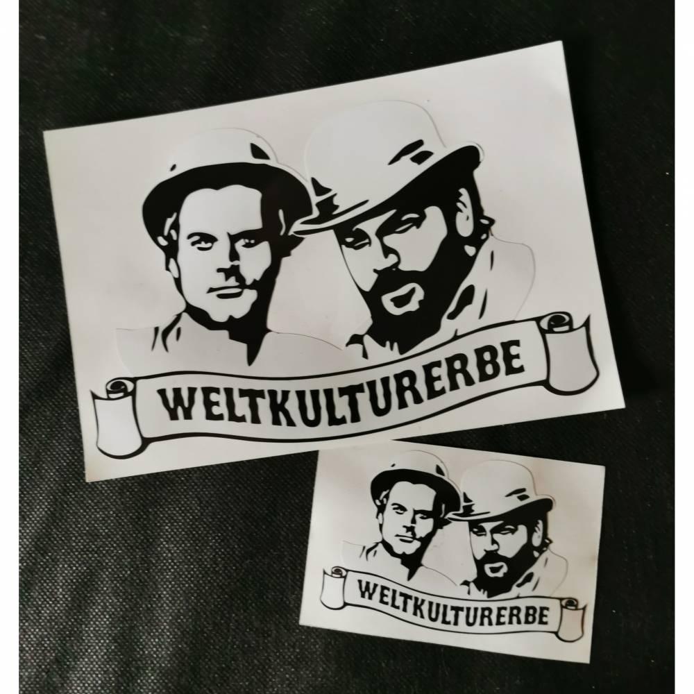 Bud Spencer und Terenc Hill, Vintage Sticker, Weltkulturerbe Bild 1