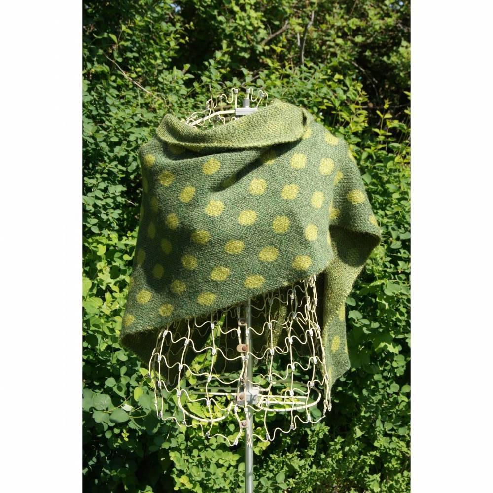 Strickstola, Stola, Schultertuch,Schultertuch, Alpaka + Mohair, grün Bild 1