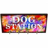 Hundegarderobe DOG STATION Wandgarderobe, Leinenhalter┊tolle Geschenkidee für Hundeliebhaber Bild 1