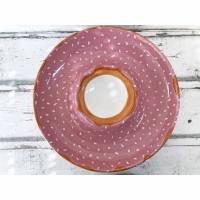 Schale für Dip&Gemüse/Brot, Keramik handbemalt Bild 1