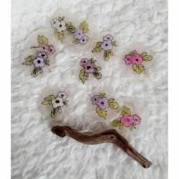 Capiz-Girlande mit gemalten Blüten Bild 1