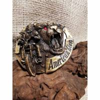 Buckle / Wechselschnalle ,Biker American Love, Gürtelschnalle, Pewter (Bu19)  Bild 1
