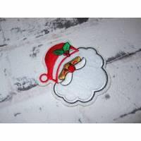 Nikolaus / Weihnachtsmann Patch zum Aufbügeln Applikation  Bild 1