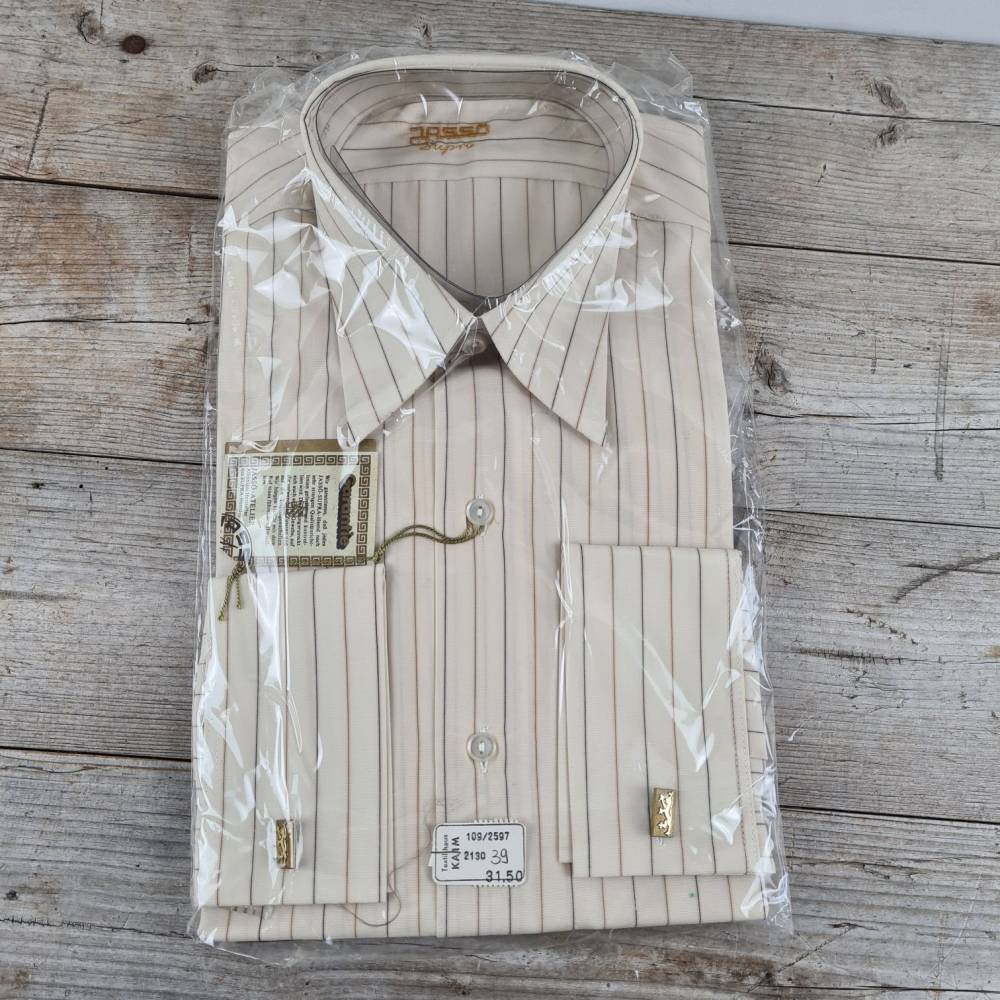 Herren Langarm Oberhemd aus den 70er Jahren - Jassö Supra original verpackt - Größe 39 Bild 1