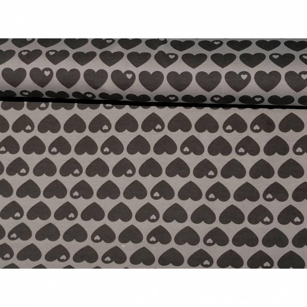 Sweat byGraziela Herzen -grau/schwarz- 0,5 m Bild 1
