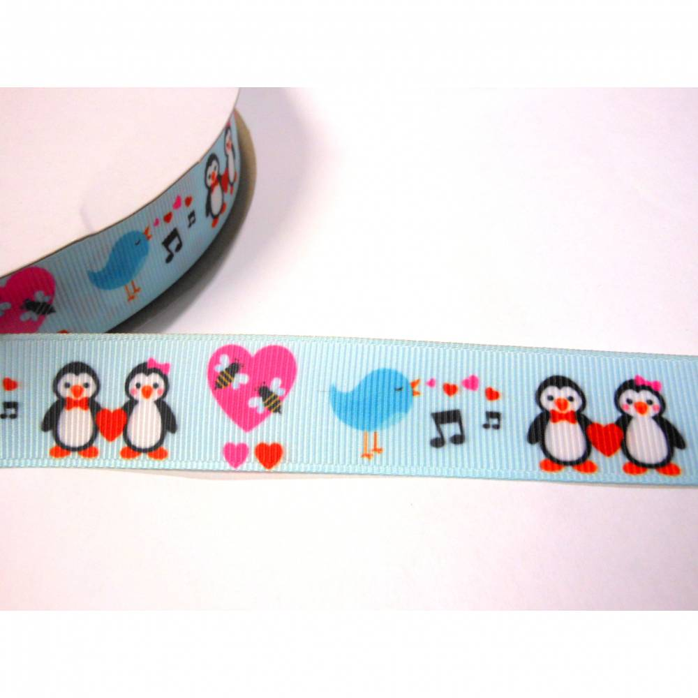 Sweet Pinguin    22 mm  Borte Ripsband  Winter  Bild 1