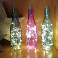 """Lichtflasche Flaschenlicht """"Sterne"""" aus der Manufaktur Karla Bild 1"""