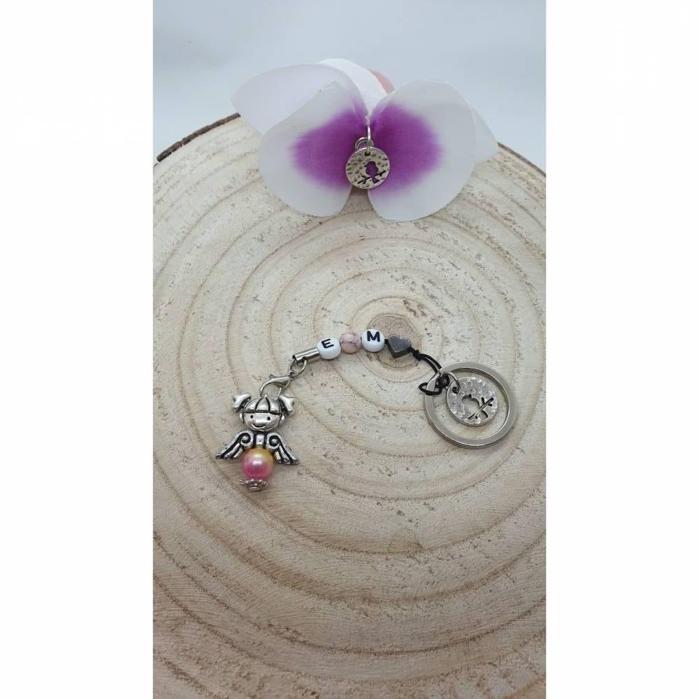 Schlüsselanhänger mit Engelchen Personalisiert Bild 1