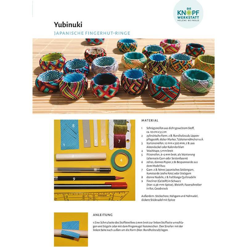 Anleitung für Yubinuki (japanische Fingerhutringe) Bild 1