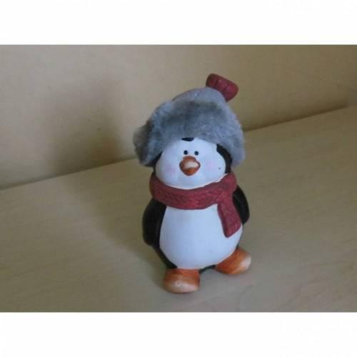 Pinguin   im Weihnachtslook  zum basteln Dekorieren