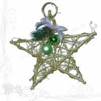 Weihnachtliche Fenster-Dekoration Holzflecht-Stern groß *HFG 06*, keine Versandkosten Bild 1