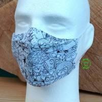 Alltagsmaske süße Waldtiere optimal für Brillenträger Damen und Teens Bild 1