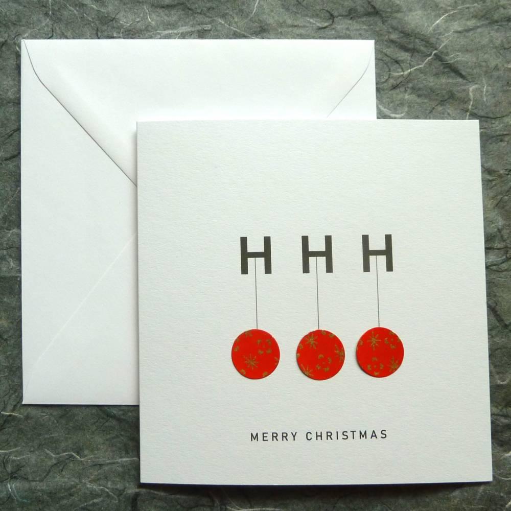 Minimalistische Weihnachtskarte - HoHoHo Bild 1