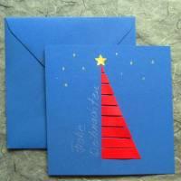 Minimalistische Weihnachtskarte - Tannenbaum Bild 1