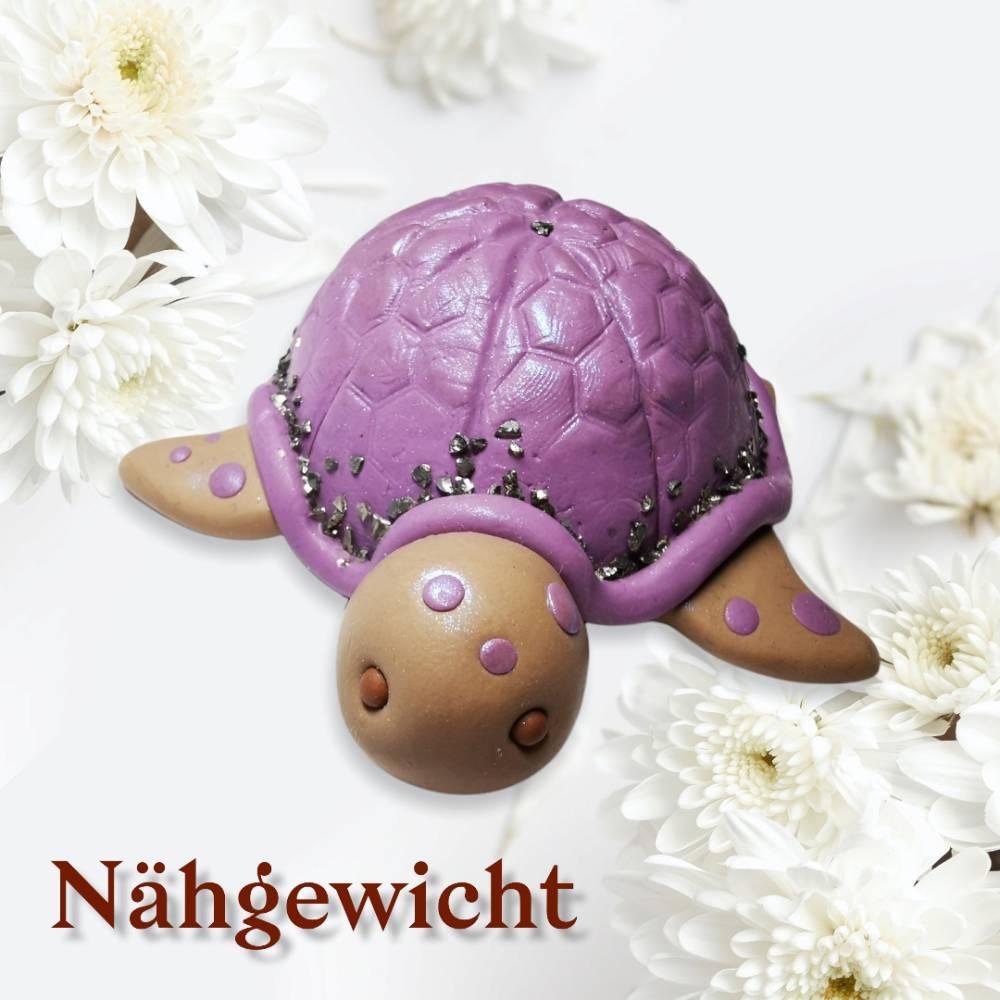 Nähgewichte, Schildkröte, Fimo Bild 1