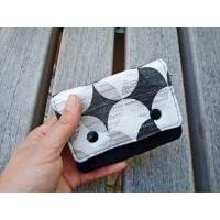 Geldbörse für Damen klein, Geldbörse schwarz weiß, Kleines Portemonnaie Canvas Bild 1