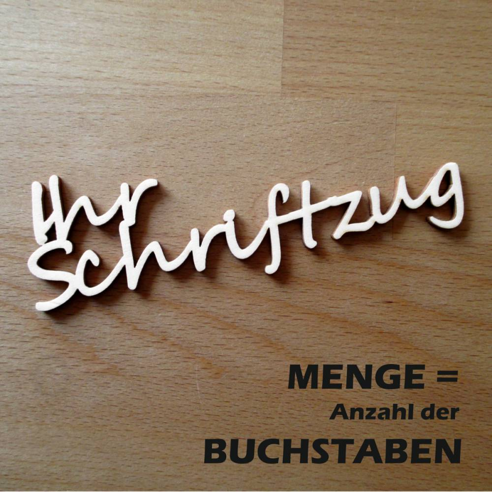 """Ihr Individueller Holz-Schriftzug """"Stuttgart"""", MENGE = Anzahl der BUCHSTABEN Bild 1"""