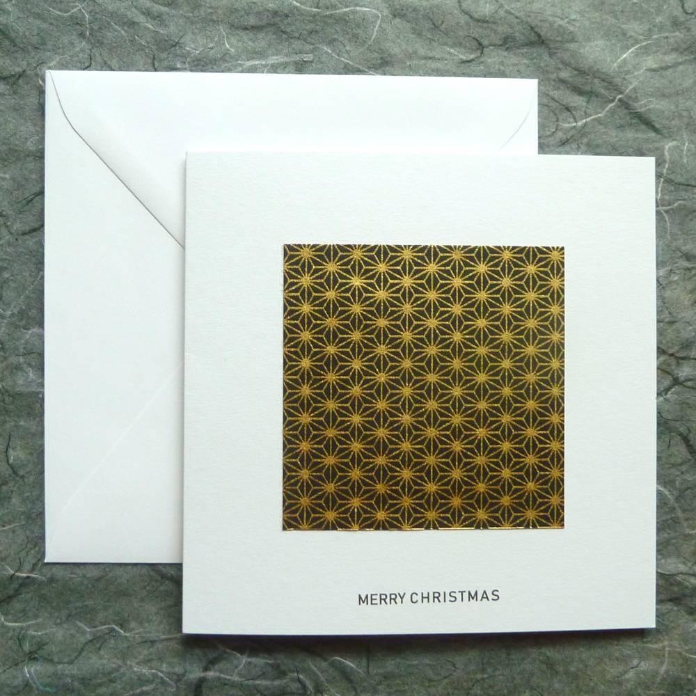 Minimalistische Weihnachtskarte - Sternenmuster Bild 1