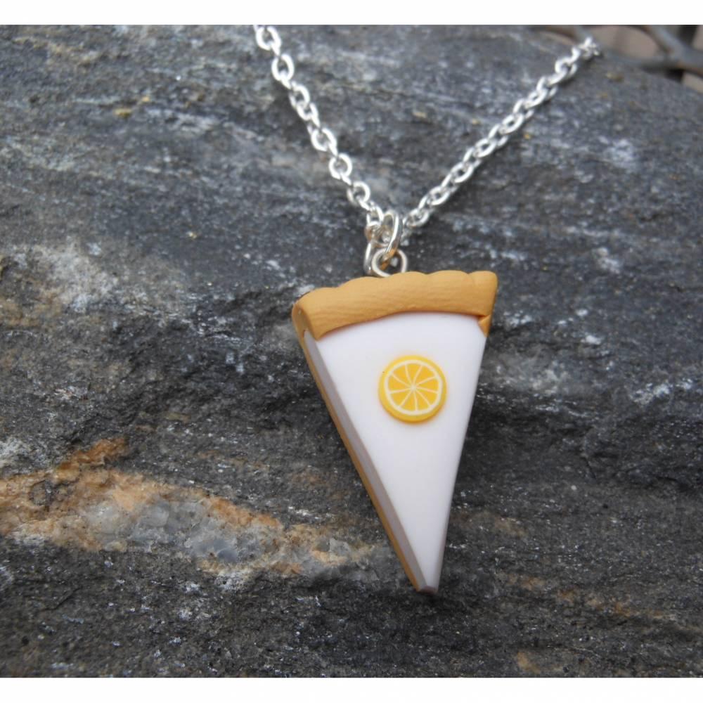 Stück Kuchen gefällig ? Zitrone Sahne Halskette  kawaii sweet  Bild 1