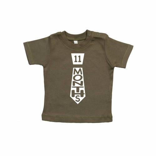 Baby T-Shirt, Meilenstein T-Shirt, elf Monate alt, Junge, Mädchen, Ereignis, Monate, 11