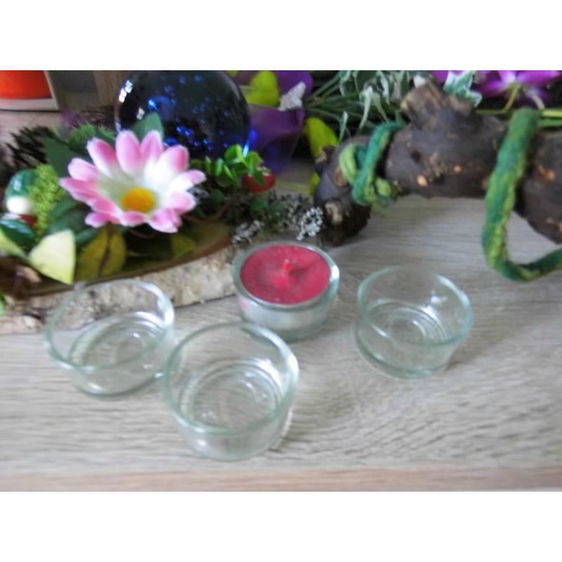 Glas für Teelichter 10 Stück zum Basteln oder dekorieren - Advent - Weihnachten - Teelichtgläser Bild 1