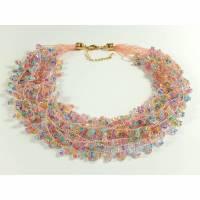 Mehrstrangkette Häkelkette Halskette Statementkette Geschenkidee Muttertag  Bild 1