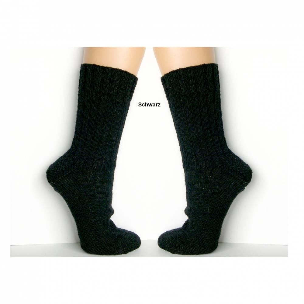 Herrensocken, Männersocken einfarbig, grau, schwarz, anthrazit, Wunschgröße, handgestrickte Socken Männer, Wollsocken Bild 1