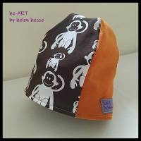 """Babymütze """"Affen"""" in braun-orange-senfgelb, KU 42, von he-ART by helen hesse Bild 1"""