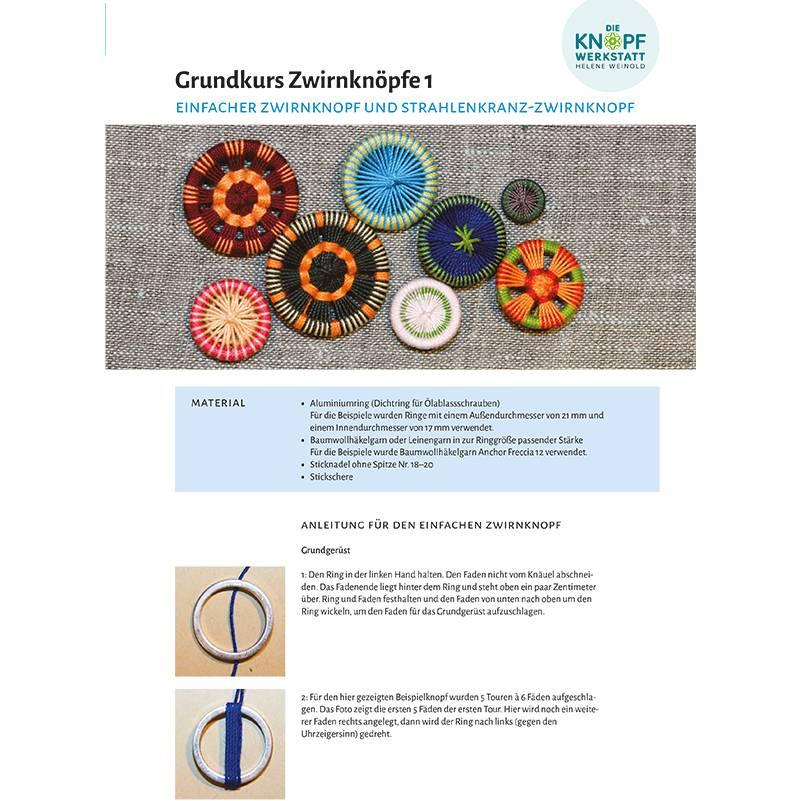 Anleitung für den einfachen Zwirnknopf (Grundkurs Zwirnknöpfe 1) Bild 1