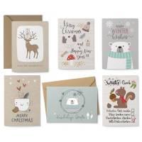 Weihnachtskarten-Set Hygge - 8 Postkarten, 4 Klappkarten mit Umschlag Bild 1