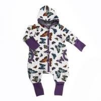 """Baby Kinder Mädchen Overall Jumpsuit Thermo gefüttert Happy Fleece """"Schmetterlinge"""" Gr. 50 56-62 68-74 80-86 92- Bild 1"""