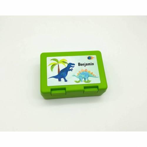 "Brotdose mit Namen ""Dino"" / Brotbox/ Frühstücksbox/ Kindergarten / Schule"