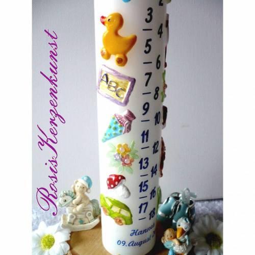 Geburtstagskerze * Lebenslicht * Lebenskerze * 1. Geburtstag * Taufe * Tischkerze * Tischdeko * Buben u. Mädchen