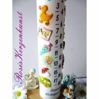 Geburtstagskerze * Lebenslicht * Lebenskerze * 1. Geburtstag * Taufe * Tischkerze * Tischdeko * Buben u. Mädchen Bild 1