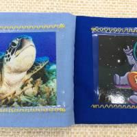 Baby Fotoalbum aus Stoff, personalisiertes Fotobuch, mein erstes Bilderalbum Bild 4