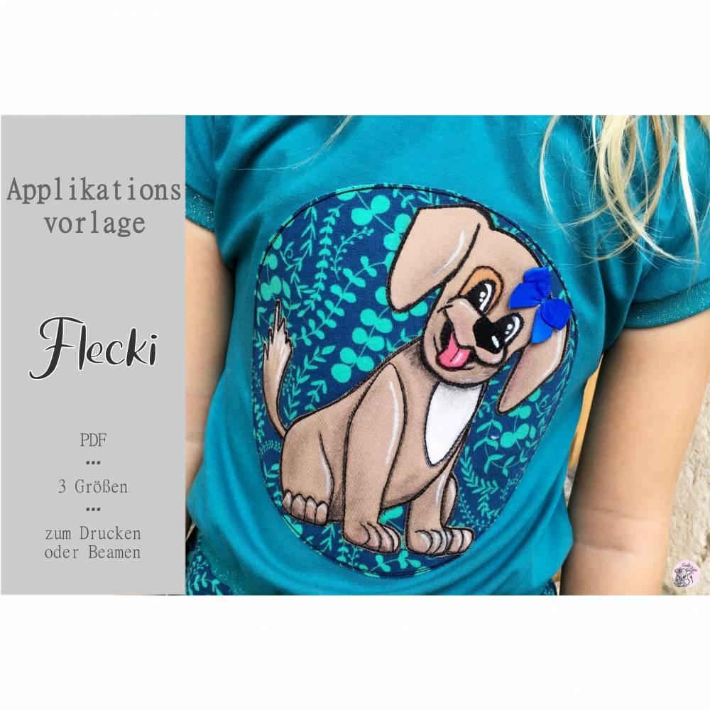 Applikationsvorlage Hund Flecki Bild 1