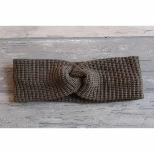Haarband/Stirnband Strickstoff olive KU 49-51