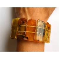 Bernstein Armband, ORANGE GOLD, echte Bernsteinstein, matt Sterling Silber Schiene, Geschenk für sie, Ambre, Bärnsten, B Bild 1