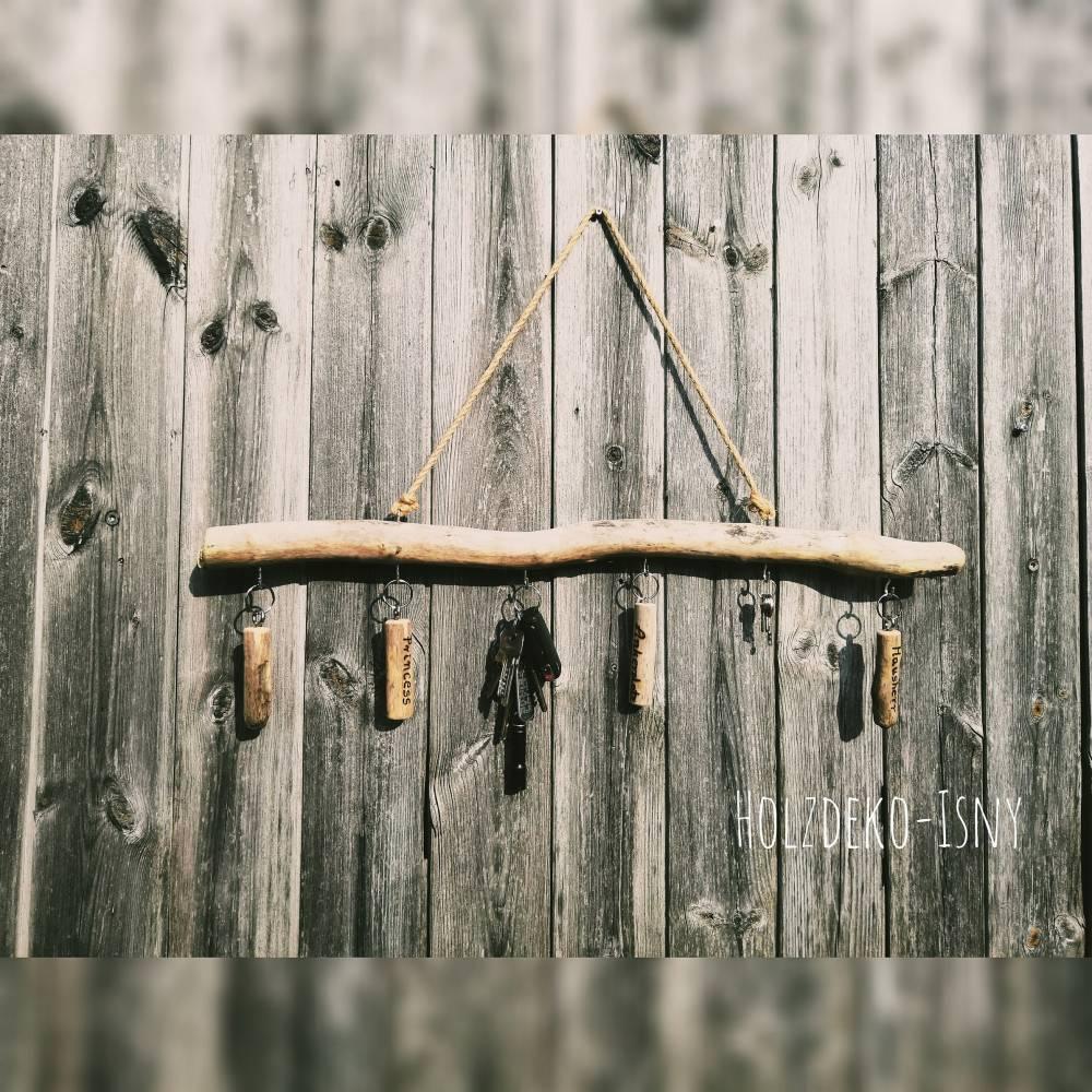 Schlüsselbrett, Schmuckaufhänger, Garderobe aus Treibholz Bild 1
