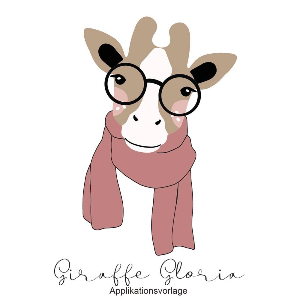 GIRAFFE GLORIA Applikationsvorlage Bild 1