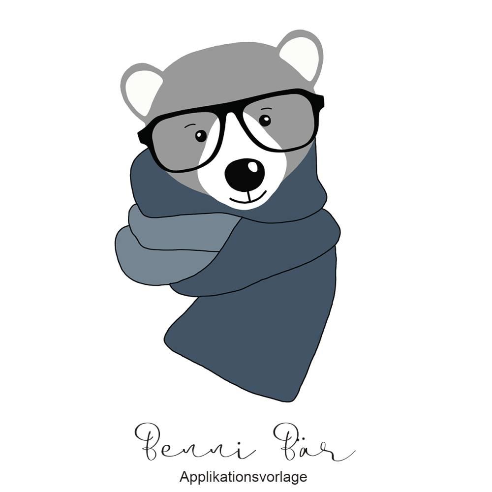 BENNI BÄR Applikationsvorlage Bild 1