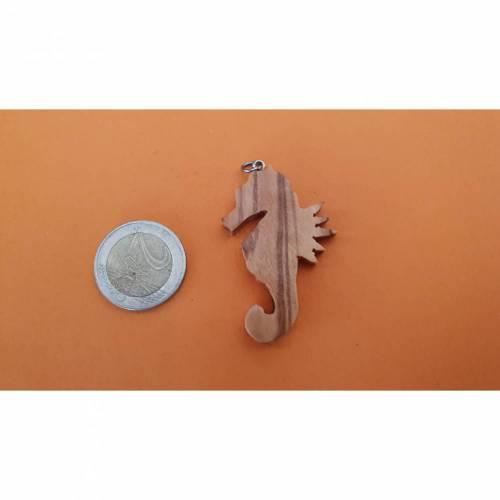 Olivenholz Kettenanhänger mit Wachs Lederschnur 45 cm