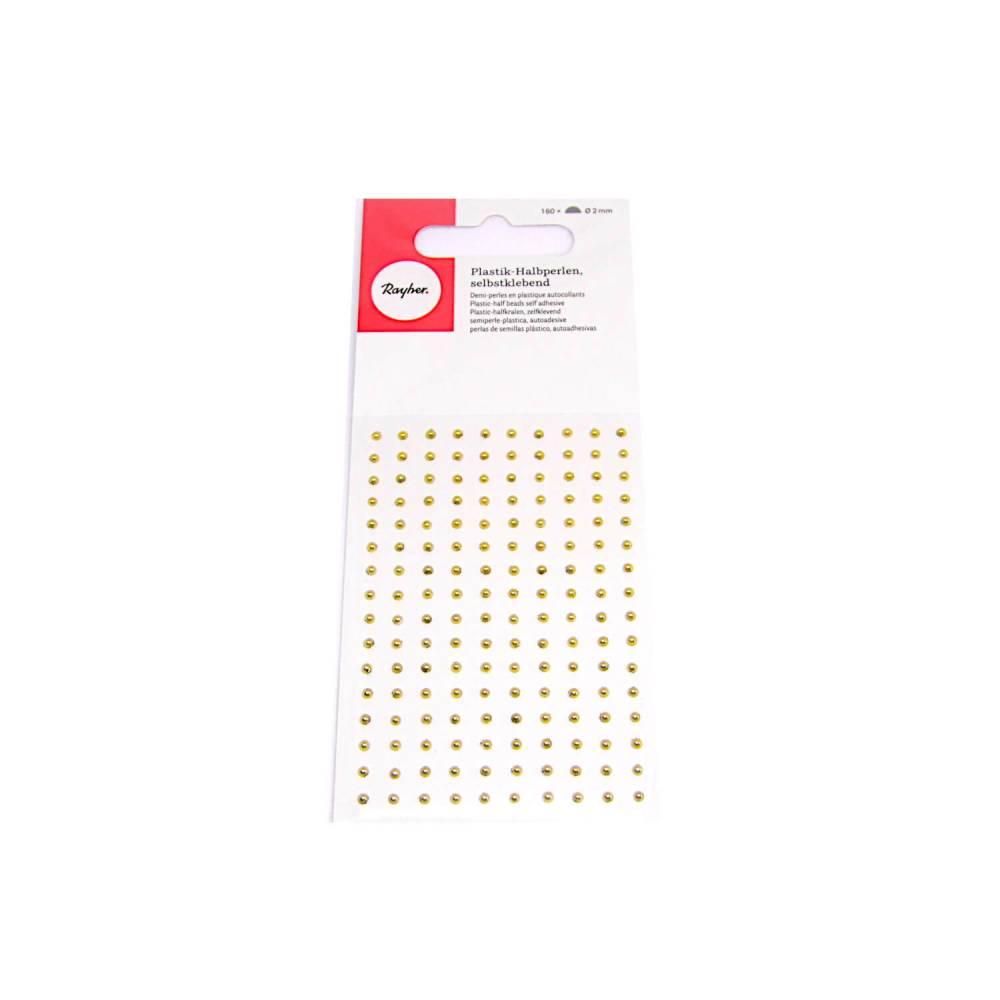 Halbperlen 2 mm goldfarben Bild 1