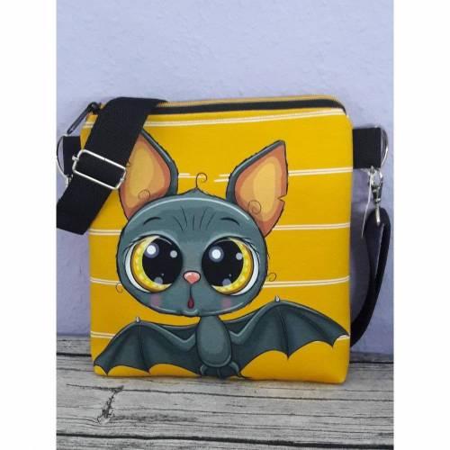 Umhängetasche für Kinder, Kindertasche Fledermaus