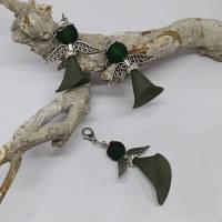 Perlenengel Charms schwarz-grün  Bild 1