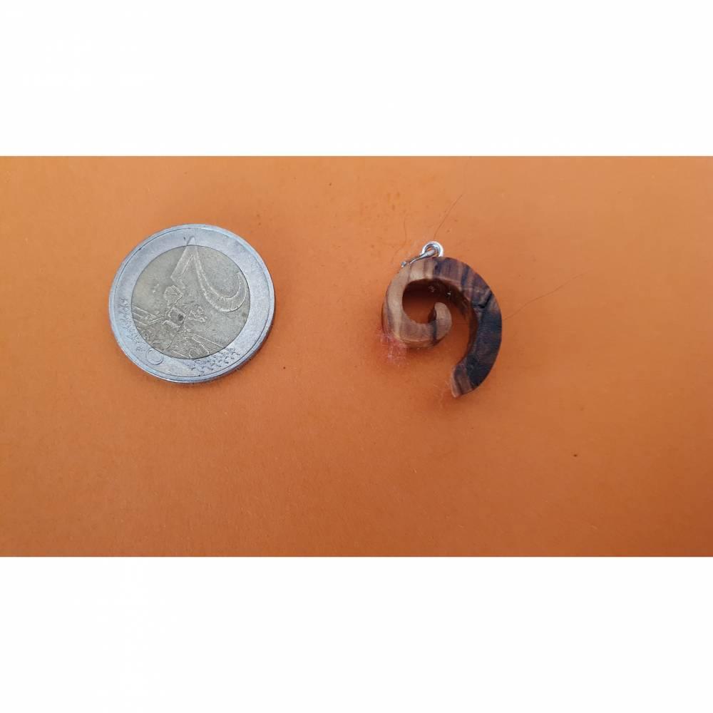 Olivenholz Kettenanhänger mit Wachs Lederschnur 45 cm  Bild 1