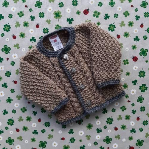 Trachtenjacke mit Zopfmuster ab Größe 62/68 bis Größe 98/104 strickjacke pullover taufe taufkleidung junge geschenk