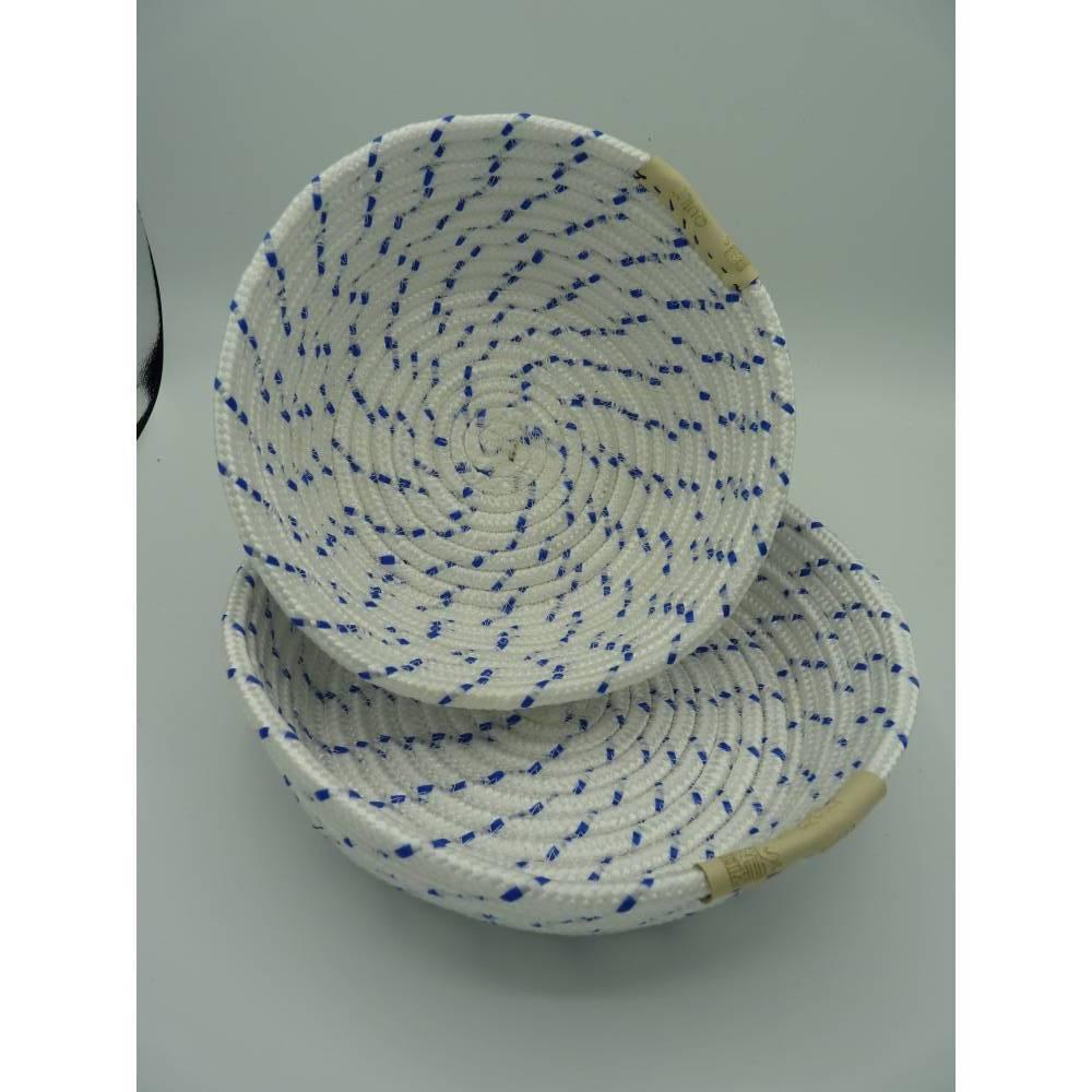 Rope Bowl / Korb / Seilkorb / Schale / Aufbewahrungskorb / Obstkorb / Obstschale / Nussschale  handgefertigt Bild 1